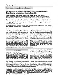 Adipose?Derived Mesenchymal Stem Cells ... - Wiley Online Library