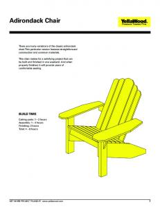 Adirondack Chair - Great Southern Wood