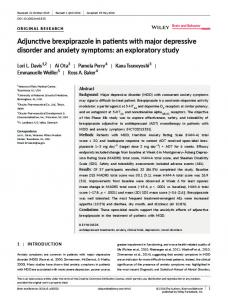 Adjunctive brexpiprazole in patients with major ... - Wiley Online Library