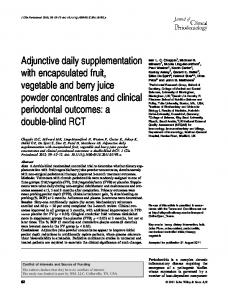 Adjunctive daily supplementation with ... - Wiley Online Library