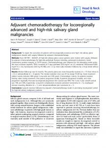 Adjuvant chemoradiotherapy for locoregionally ... - BioMedSearch