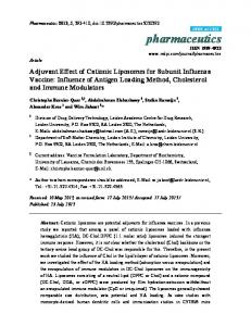 Adjuvant Effect of Cationic Liposomes for Subunit ... - CiteSeerX