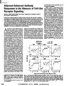 Adjuvant-Enhanced Antibody Responses in the Absence of ... - Science