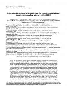 Adjuvant radiotherapy after prostatectomy for ... - Oxford Journals
