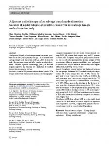 Adjuvant radiotherapy after salvage lymph node dissection because of ...