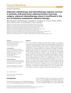 Adjuvant radiotherapy and chemotherapy ... - Wiley Online Library