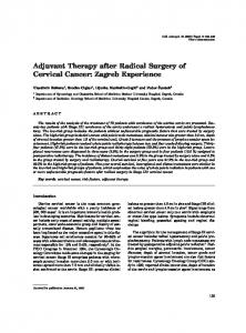 Adjuvant Therapy after Radical Surgery of Cervical Cancer: Zagreb ...