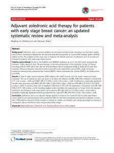 Adjuvant zoledronic acid therapy for patients with ... - BioMedSearch