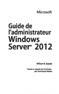 administrateur Windows Server 2012 - Dunod