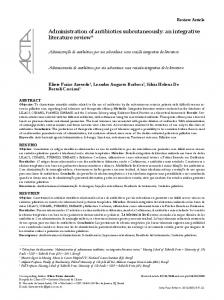 Administration of antibiotics subcutaneously: an