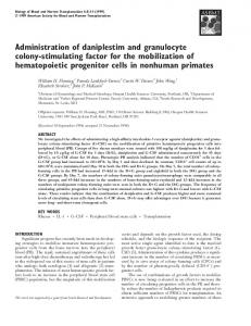 Administration of daniplestim and granulocyte colony ... - Core