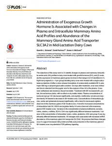 Administration of Exogenous Growth Hormone Is ... - Semantic Scholar