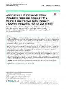 Administration of granulocyte-colony stimulating factor accompanied ...