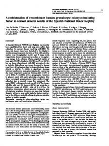 Administration of recombinant human granulocyte colony ... - Nature