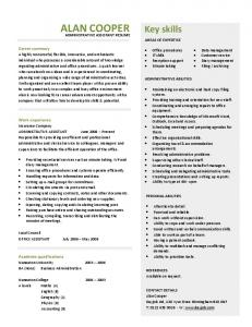 administrative assistant resume template Dayjo