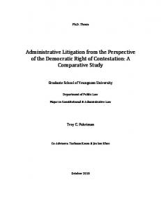 Administrative Litigation from the Perspective of the