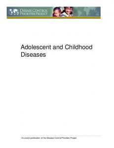 Adolescent and Childhood Diseases