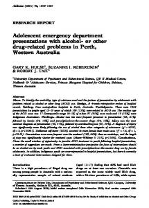 Adolescent emergency department ... - Wiley Online Library