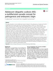 Adolescent idiopathic scoliosis (AIS) - Scoliosis and Spinal Disorders