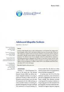 Adolescent Idiopathic Scoliosis - eJManager