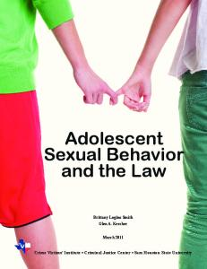 Adolescent Sexual Behavior and the Law