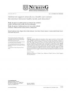 Adolescent support networks in a health care context: the ... - SciELO
