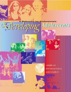 Adolescents - American Psychological Association