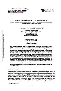adomian decomposition method for