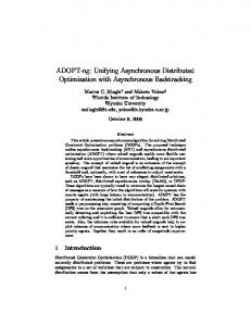 ADOPT-ng: Unifying Asynchronous Distributed ... - Semantic Scholar