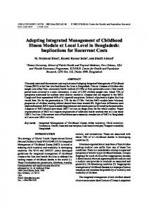 Adopting Integrated Management of Childhood Illness Module at ...