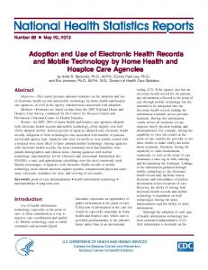 Adoption and Use of Electronic Health Records and Mobile