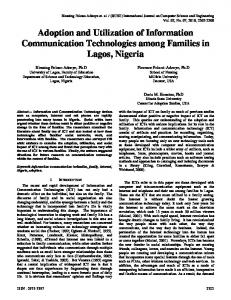 Adoption and Utilization of Information Communication Technologies ...