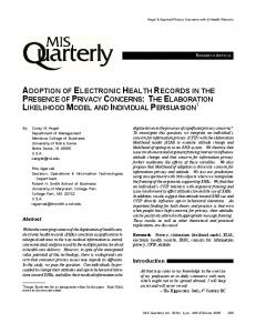 Adoption of electronic health records in the presence of privacy
