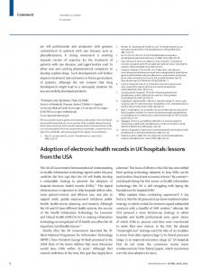 Adoption of electronic health records in UK hospitals