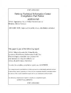 ADP010785 - Defense Technical Information Center