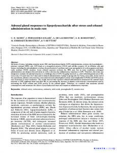 Adrenal gland responses to lipopolysaccharide after stress and ...