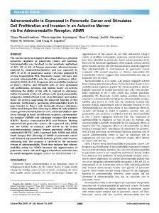 Adrenomedullin Is Expressed in Pancreatic ... - Cancer Research