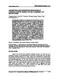 adsorption and desorption behaviors of lignosulfonate ... - BioResources