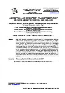 adsorption and desorption characteristics of crystal