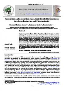 Adsorption and desorption characteristics of ... - DergiPark