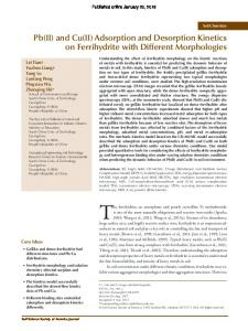 Adsorption and Desorption Kinetics on Ferrihydrite