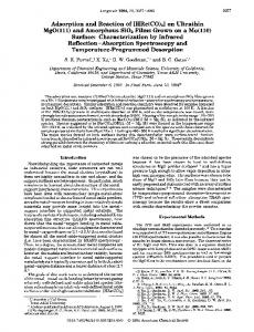 Adsorption and Reaction of [HRe(C0)5] - American Chemical Society