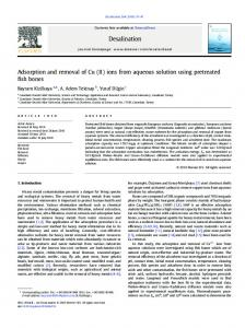 Adsorption and removal of Cu (II) ions from aqueous