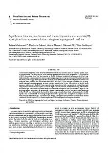 adsorption from aqueous solution using iron
