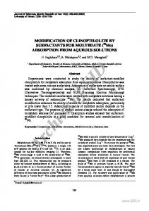 ADSORPTION FROM AQUEOUS SOLUTIONS - Sid