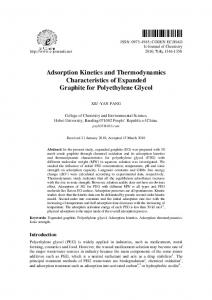 Adsorption Kinetics and Thermodynamics Characteristics of Expanded