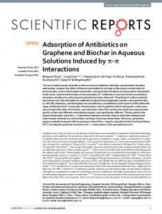 Adsorption of Antibiotics on Graphene and Biochar