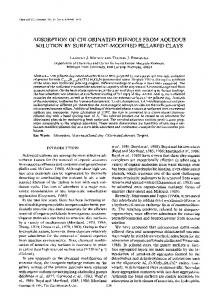 adsorption of chlorinated phenols from aqueous solution by surfactant ...