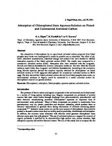 Adsorption of Chlorophenol from Aqueous Solution on Fluted and ...