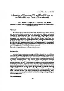 Adsorption of Chromium(VI) and Zinc(II) Ions on the